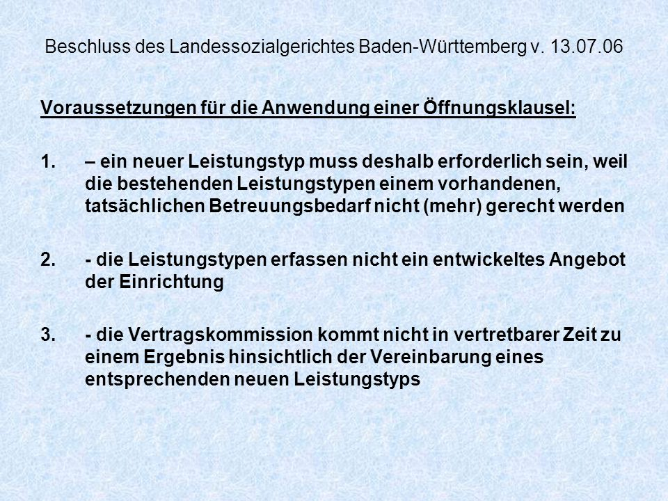 Beschluss des Landessozialgerichtes Baden-Württemberg v. 13.07.06