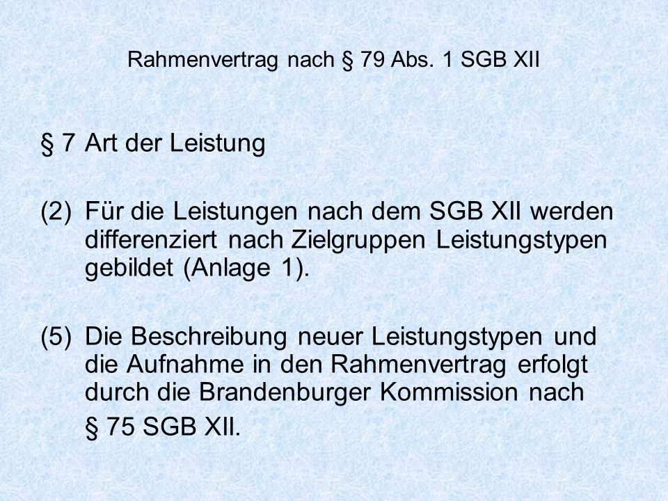 Rahmenvertrag nach § 79 Abs. 1 SGB XII