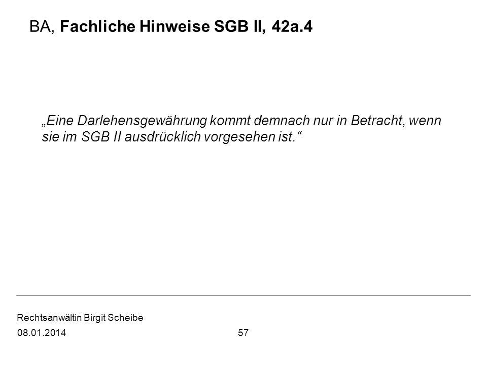 BA, Fachliche Hinweise SGB II, 42a.4
