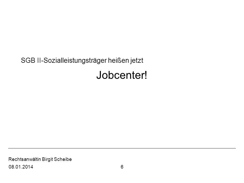 SGB II-Sozialleistungsträger heißen jetzt