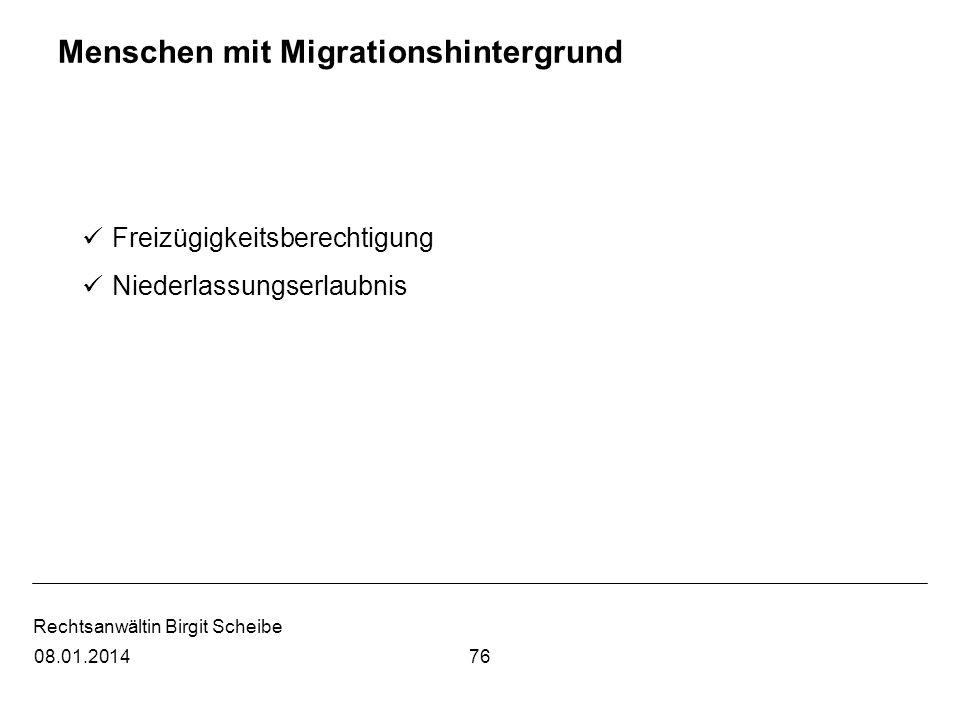 Menschen mit Migrationshintergrund