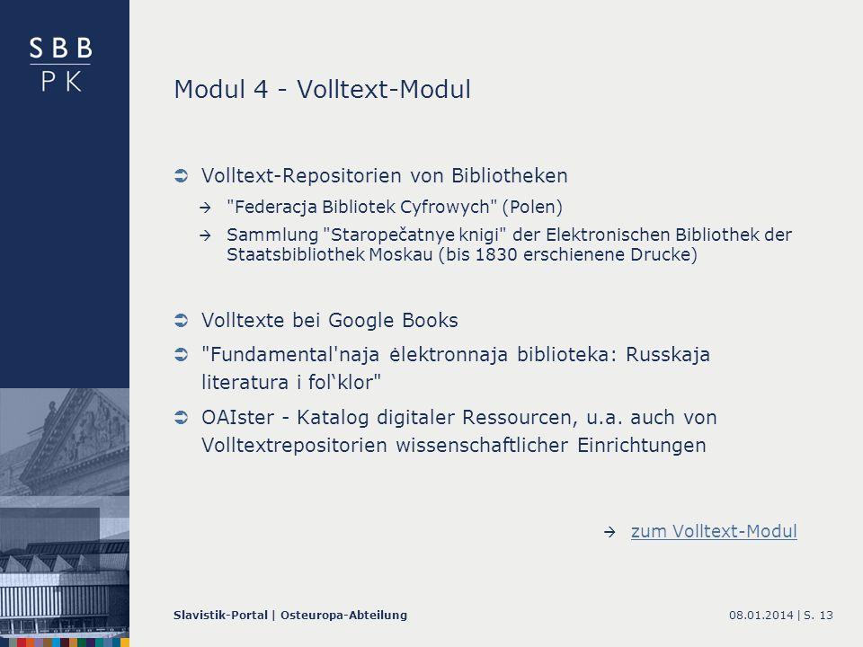 Modul 4 - Volltext-Modul