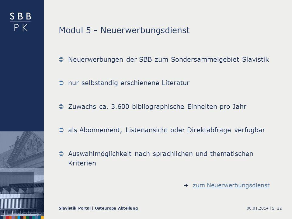 Modul 5 - Neuerwerbungsdienst