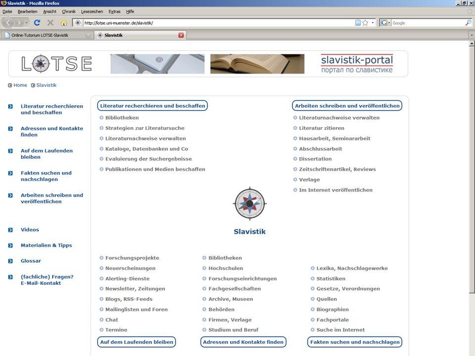 Online-Tutorium (LOTSE Slavistik)