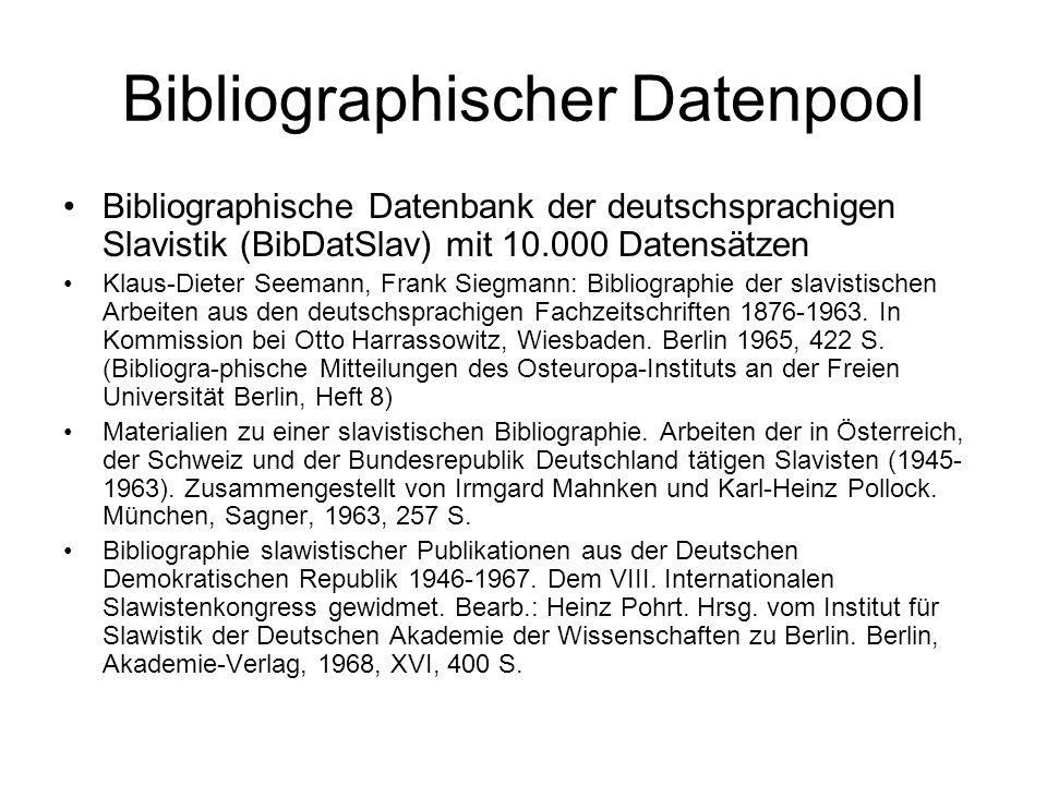 Bibliographischer Datenpool