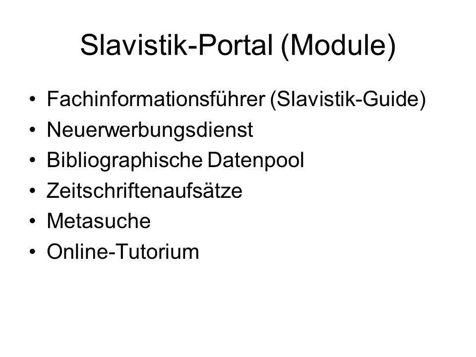 Slavistik-Portal (Module)