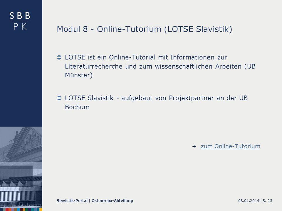 Modul 8 - Online-Tutorium (LOTSE Slavistik)