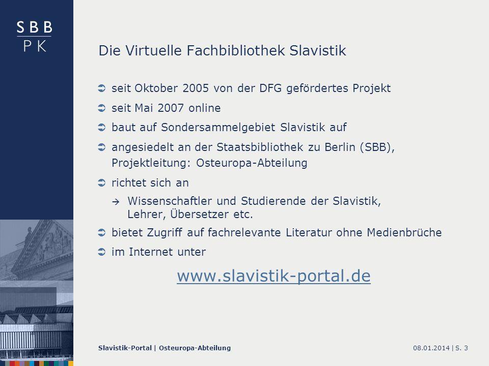 Die Virtuelle Fachbibliothek Slavistik