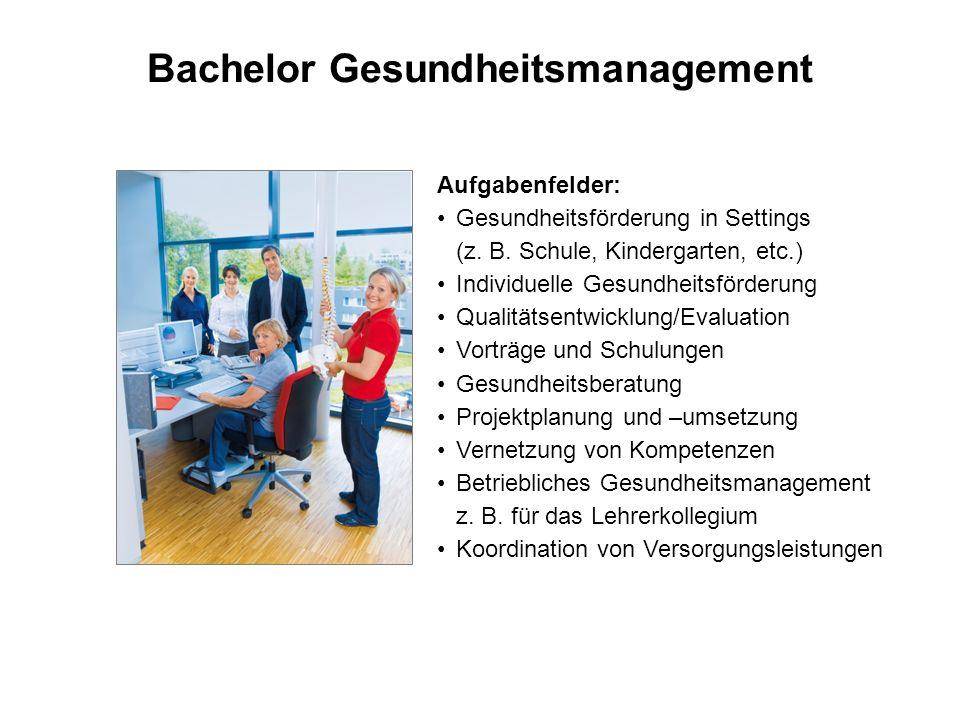 Bachelor Gesundheitsmanagement