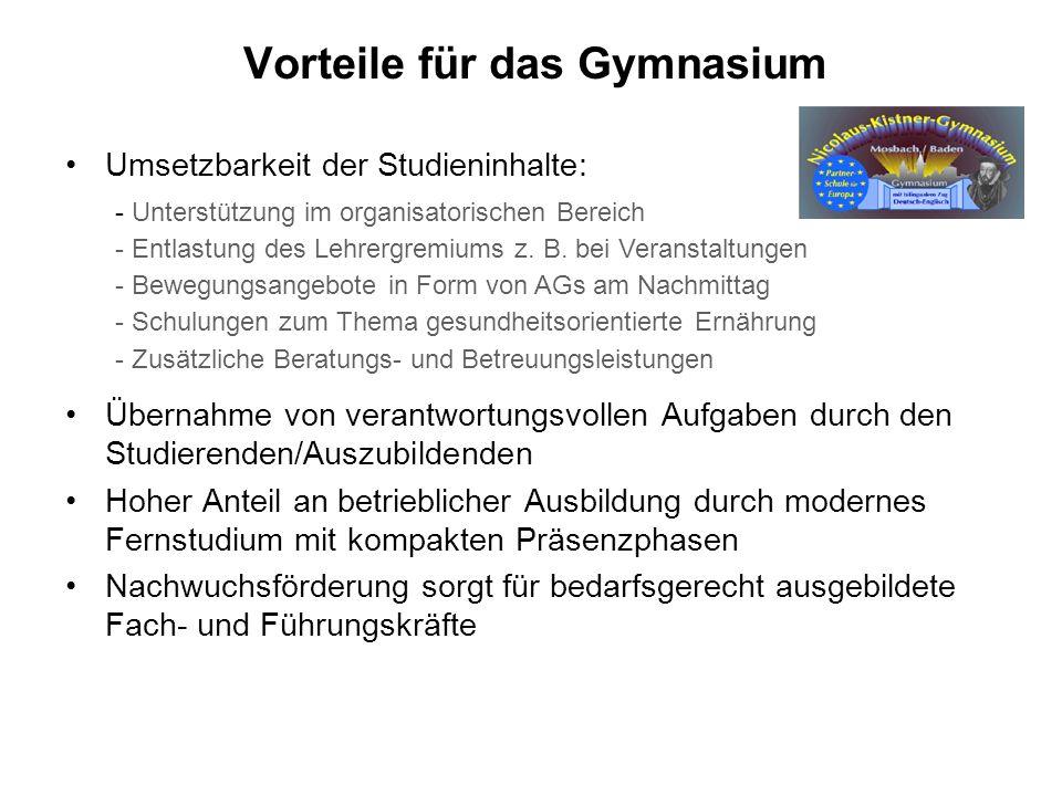 Vorteile für das Gymnasium