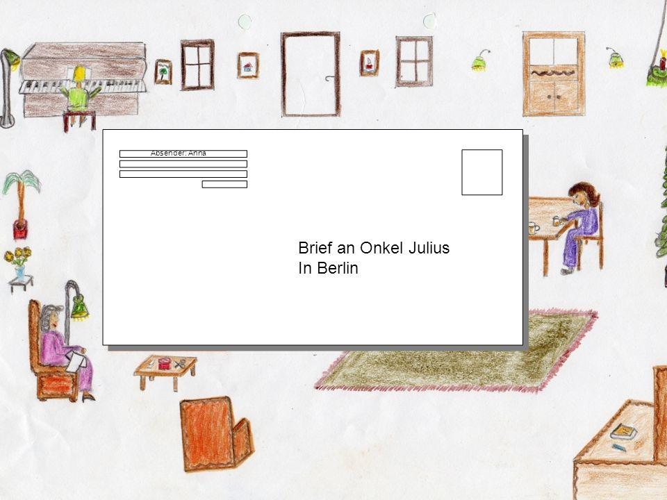 Absender: Anna Brief an Onkel Julius In Berlin