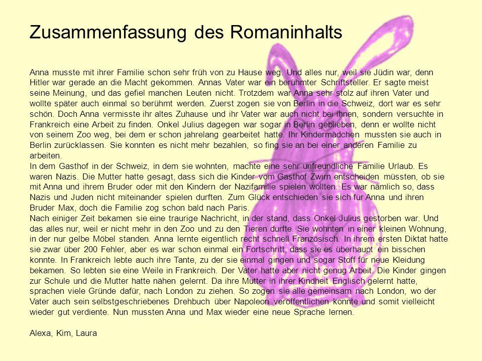 Zusammenfassung des Romaninhalts
