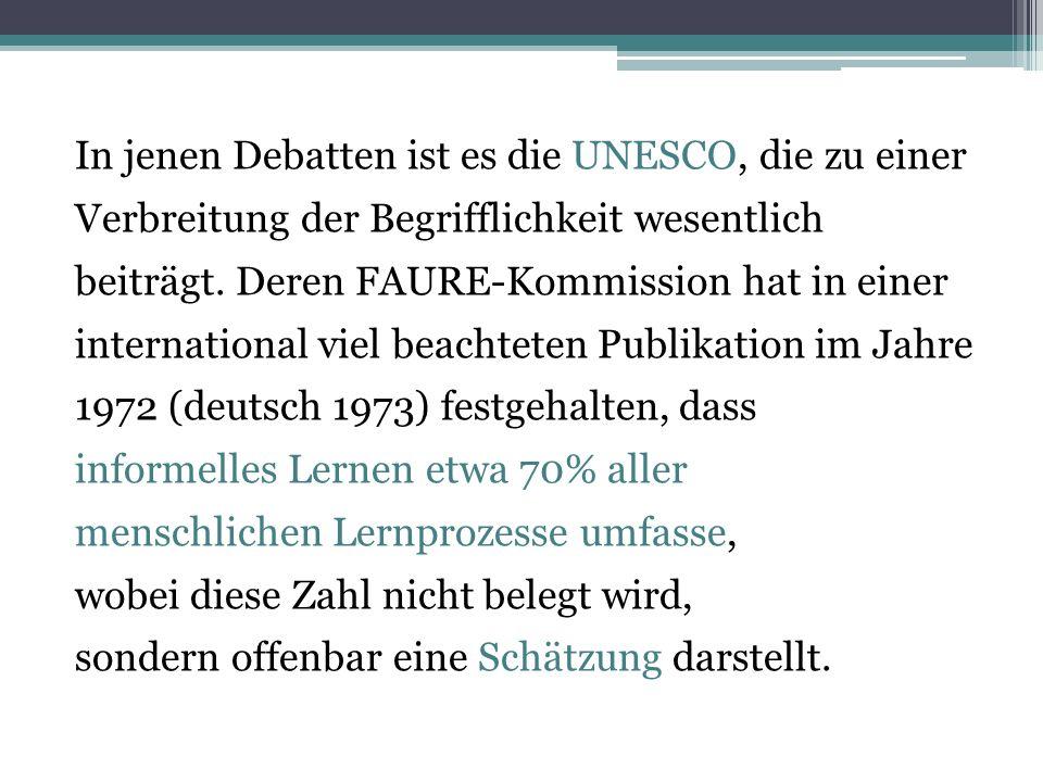 In jenen Debatten ist es die UNESCO, die zu einer Verbreitung der Begrifflichkeit wesentlich beiträgt.
