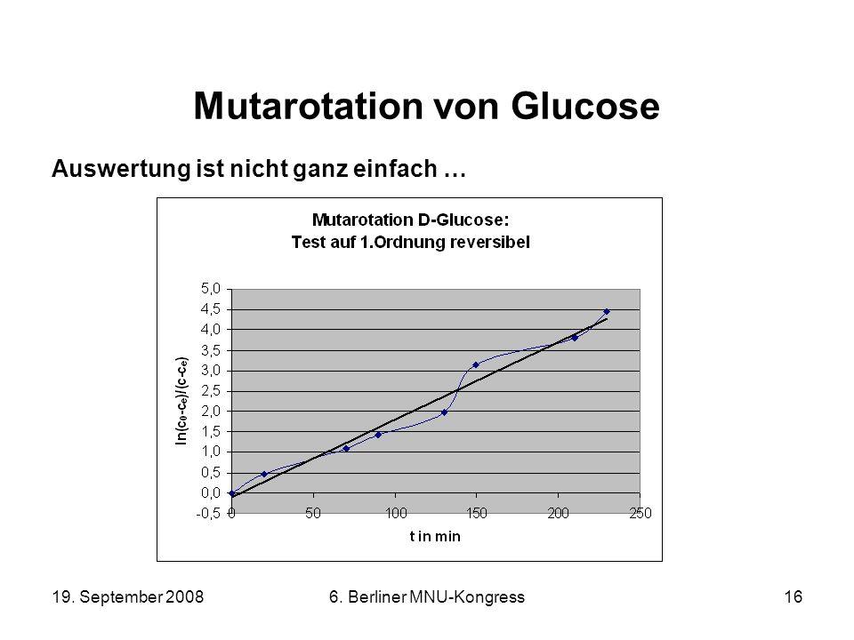 Mutarotation von Glucose