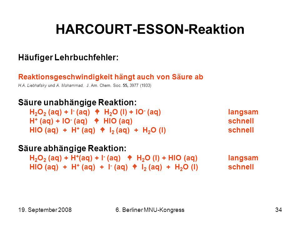 HARCOURT-ESSON-Reaktion
