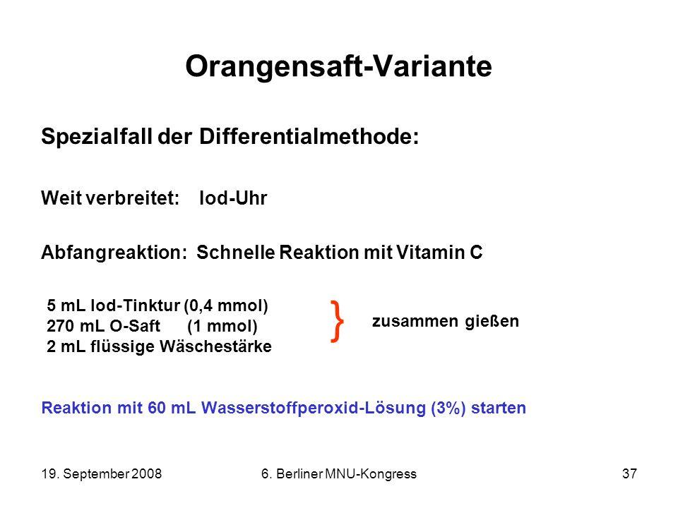 Orangensaft-Variante