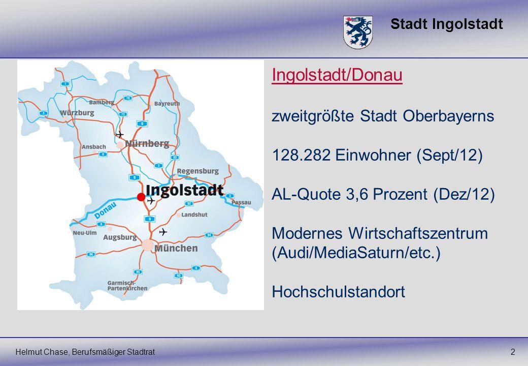 Ingolstadt/Donau zweitgrößte Stadt Oberbayerns