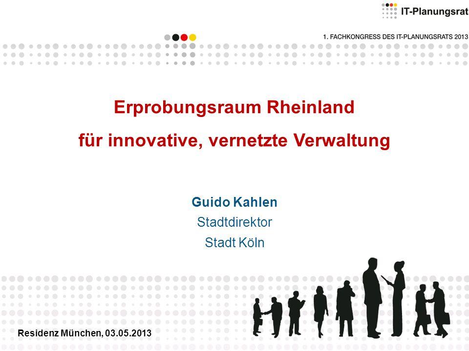 Erprobungsraum Rheinland für innovative, vernetzte Verwaltung