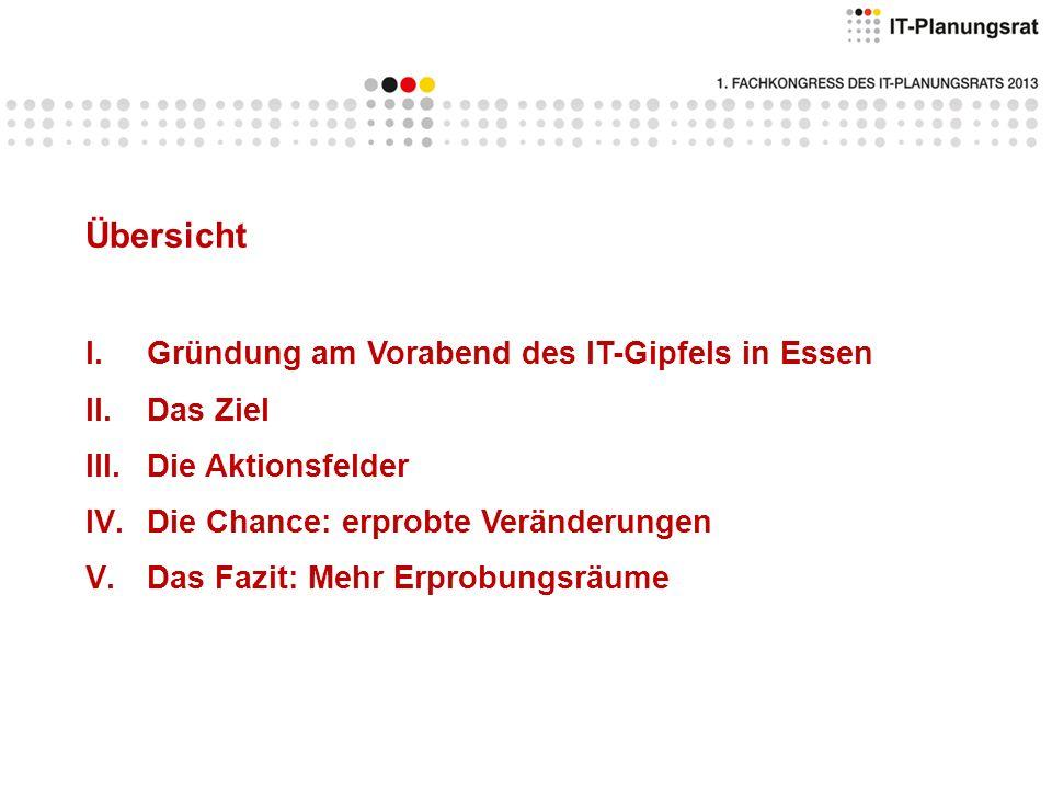 Übersicht Gründung am Vorabend des IT-Gipfels in Essen Das Ziel