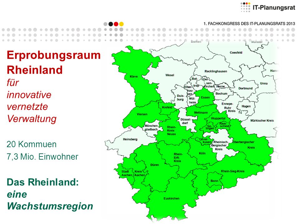 Erprobungsraum Rheinland für innovative vernetzte Verwaltung