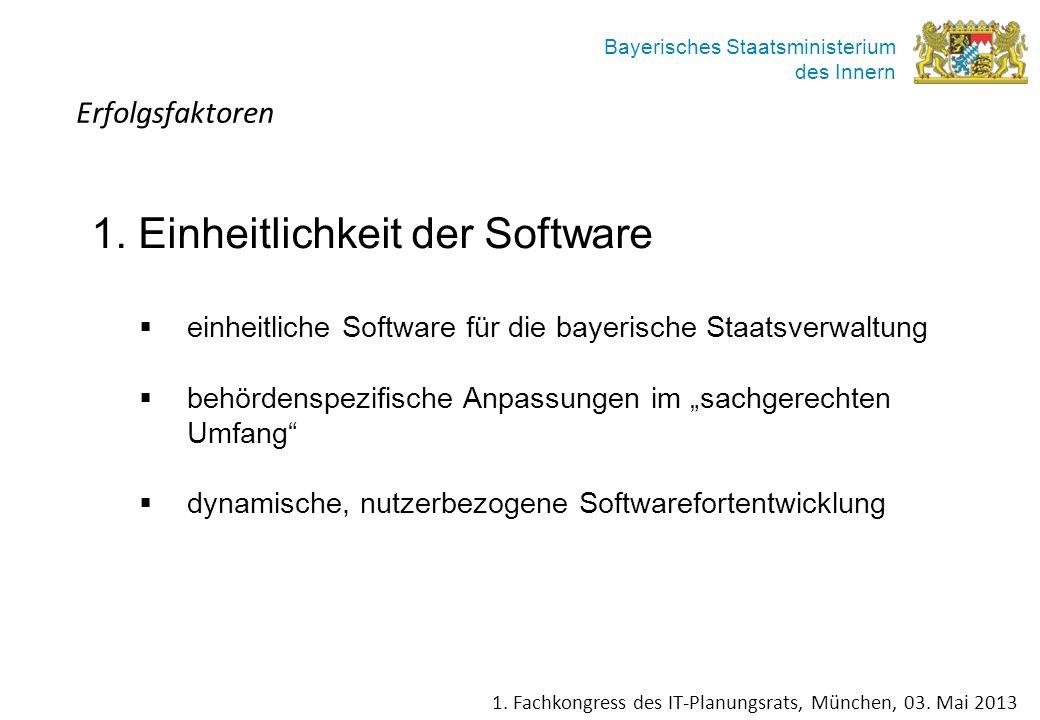 1. Einheitlichkeit der Software