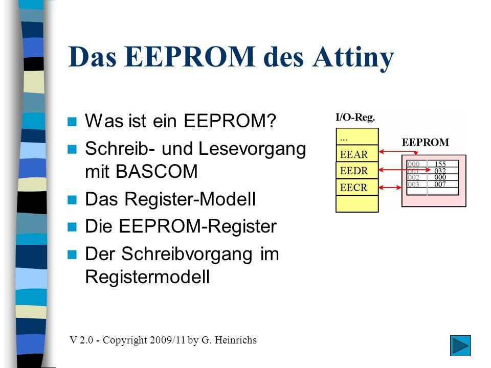 Attiny-Projekt - EEPROM