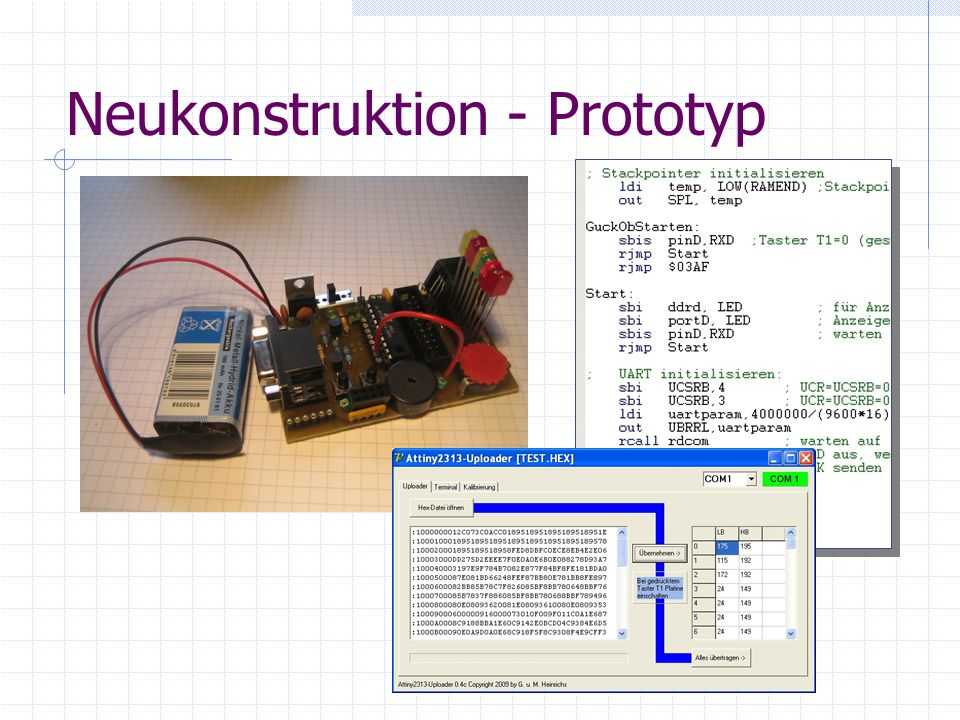 Neukonstruktion - Prototyp