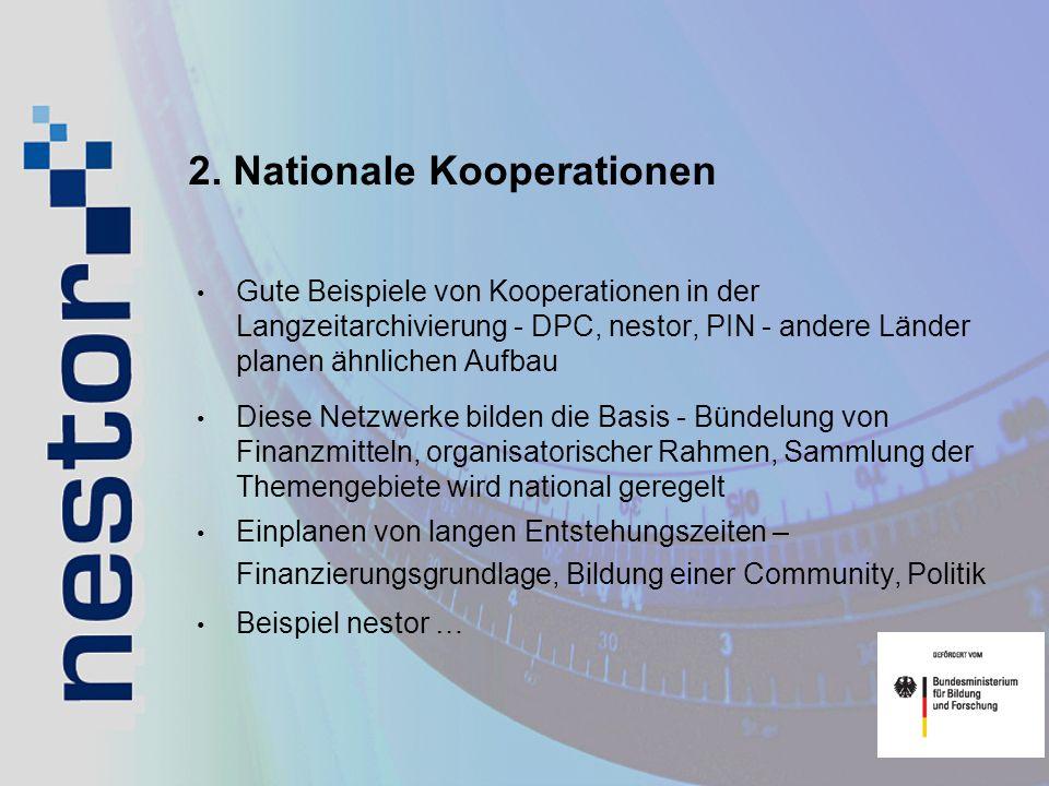 2. Nationale Kooperationen