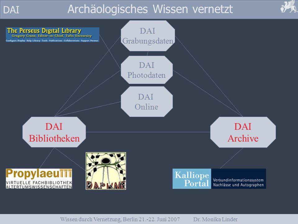 Wissen durch Vernetzung, Berlin 21.-22. Juni 2007 Dr. Monika Linder