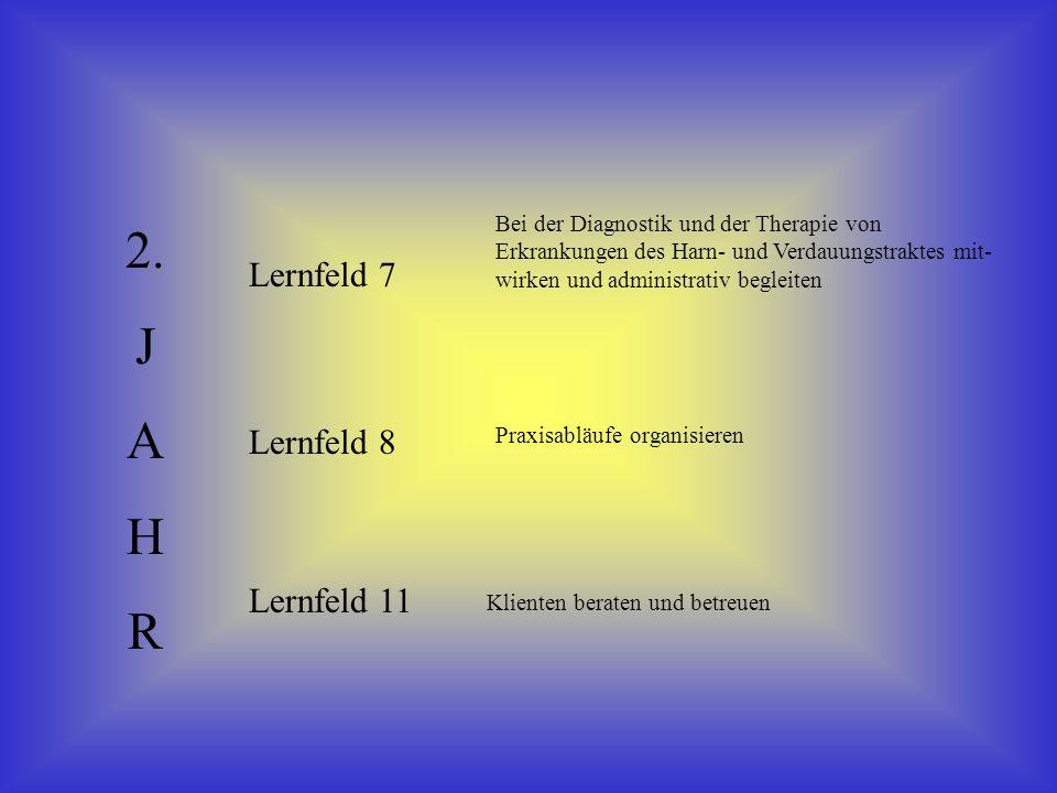 2. J A H R Lernfeld 7 Lernfeld 8 Lernfeld 11