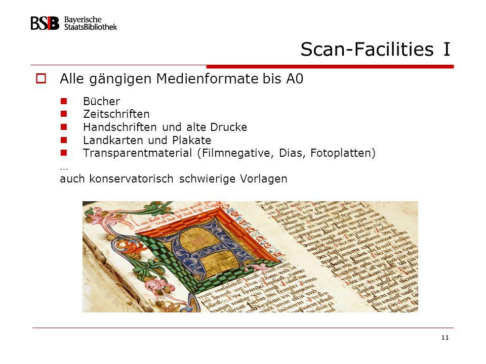 Scan-Facilities I Alle gängigen Medienformate bis A0 Bücher