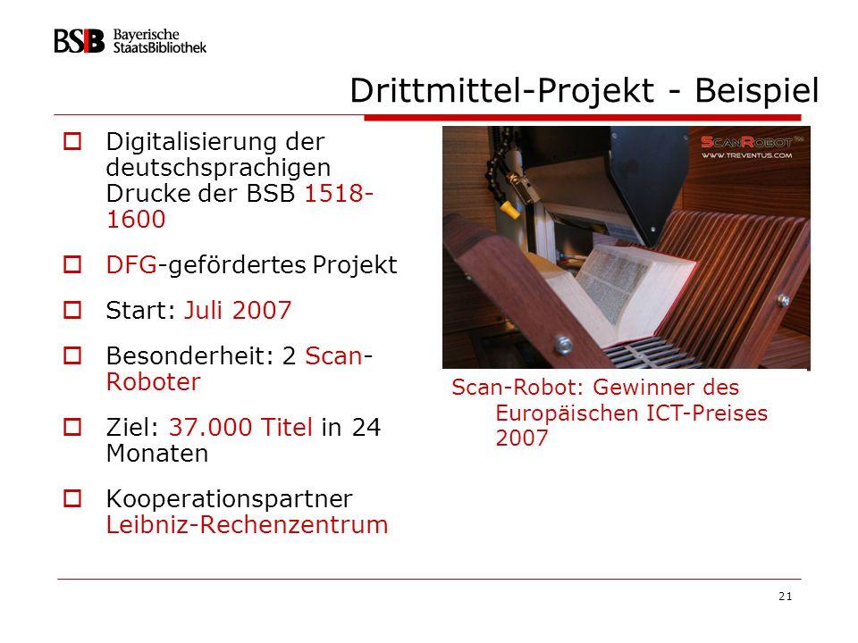 Drittmittel-Projekt - Beispiel