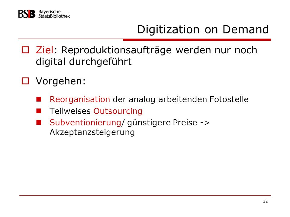 Digitization on Demand