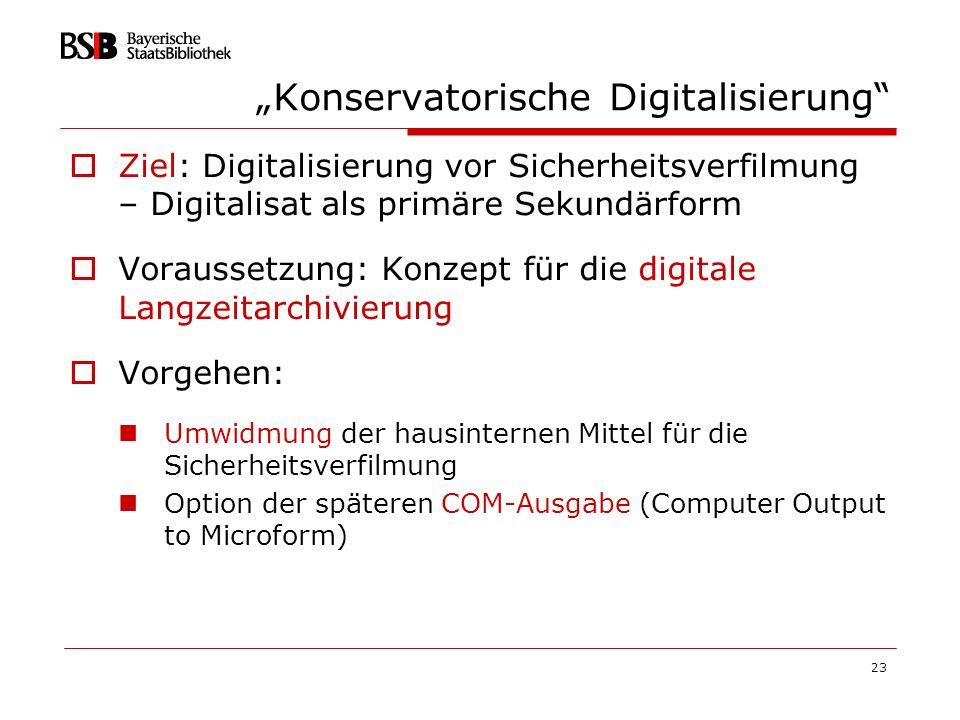 """""""Konservatorische Digitalisierung"""