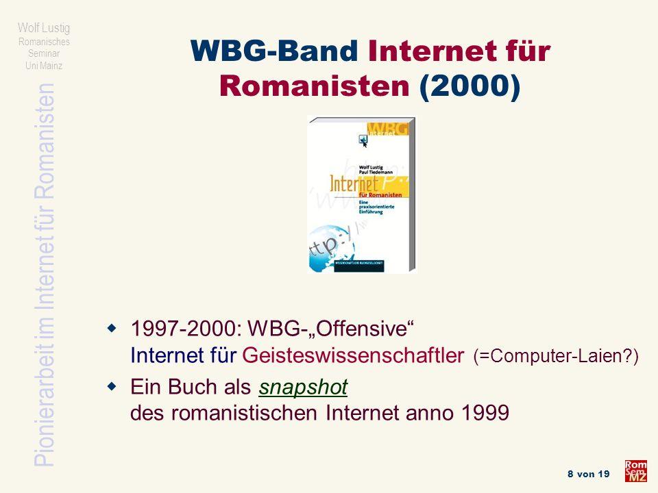 WBG-Band Internet für Romanisten (2000)