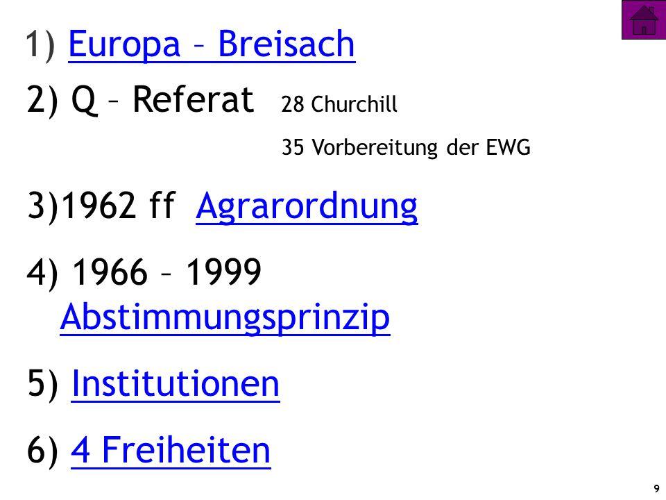 1) Europa – Breisach Q – Referat 28 Churchill 1962 ff Agrarordnung