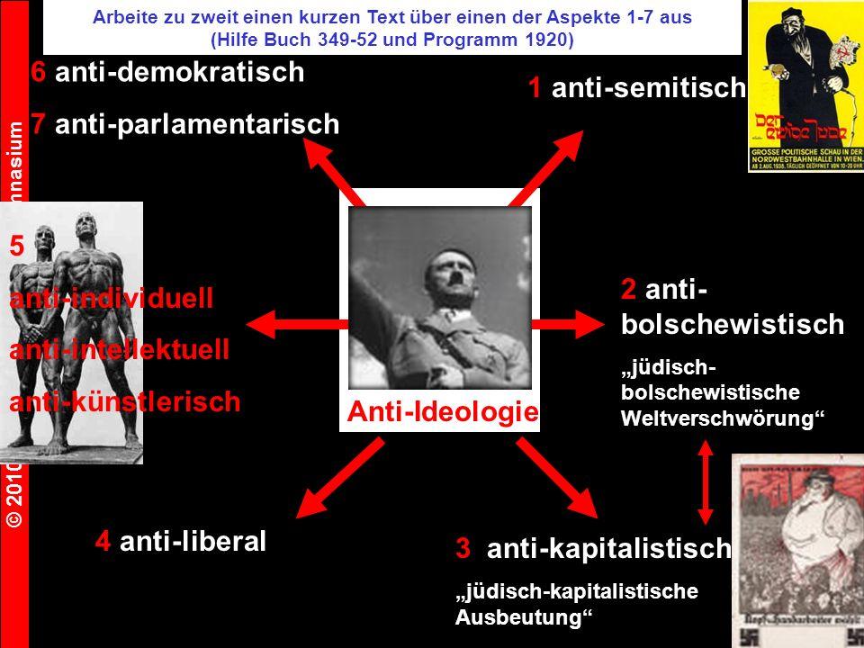 7 anti-parlamentarisch 1 anti-semitisch
