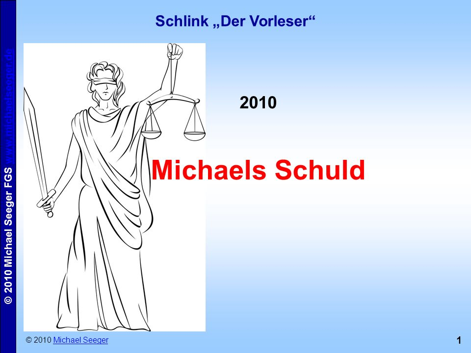 """Schlink """"Der Vorleser"""