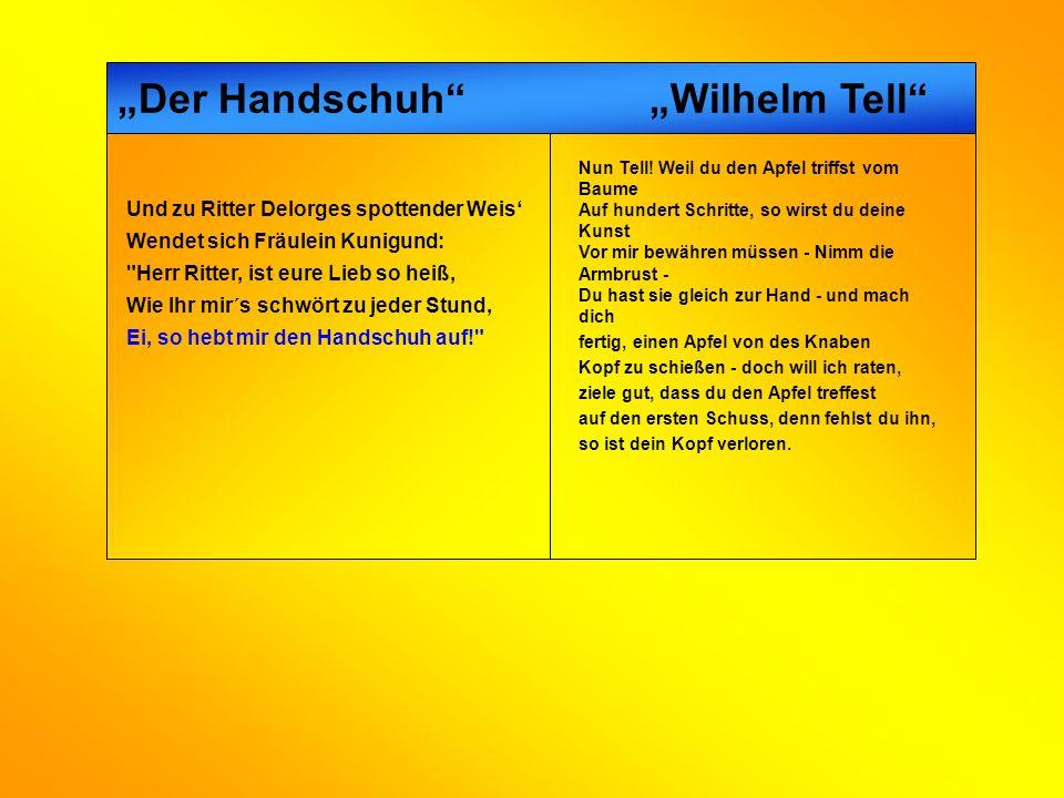 """""""Der Handschuh """"Wilhelm Tell"""