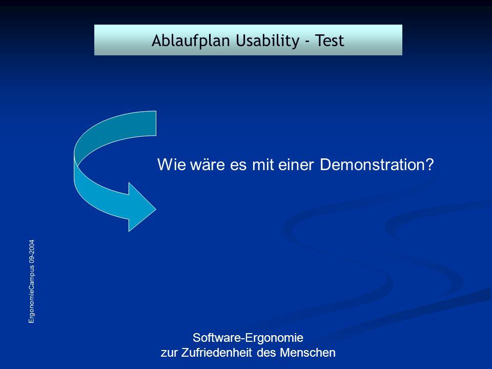 Ablaufplan Usability - Test