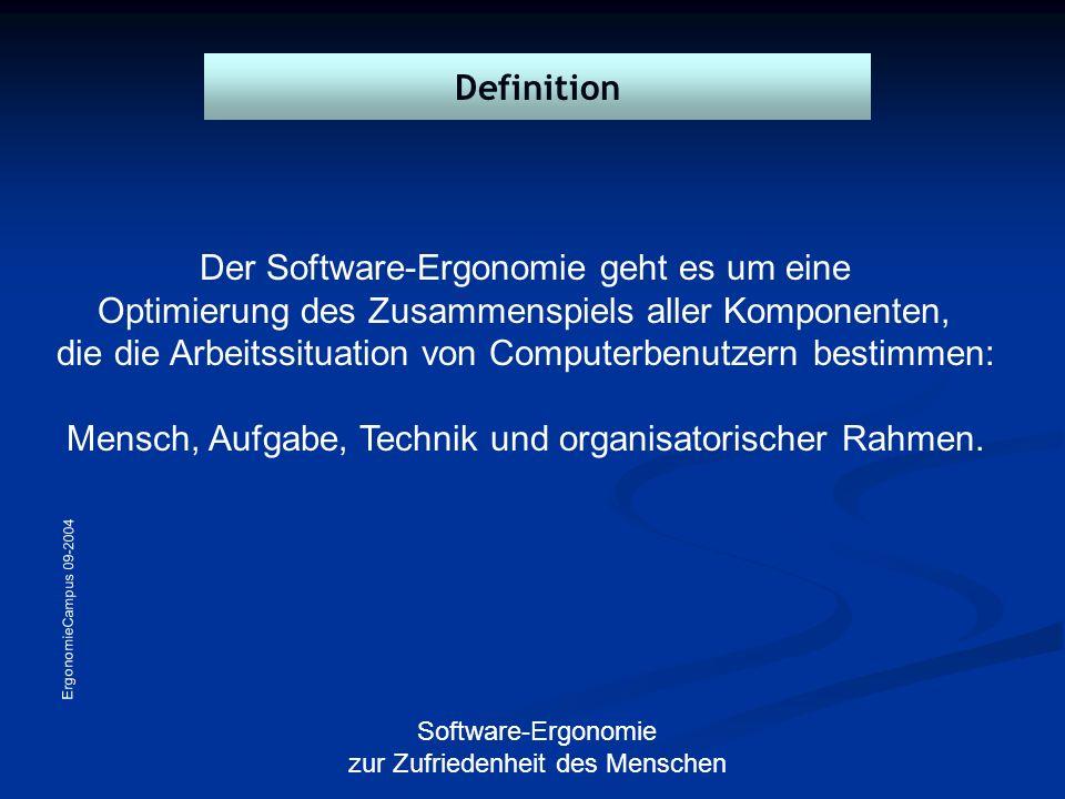 Der Software-Ergonomie geht es um eine