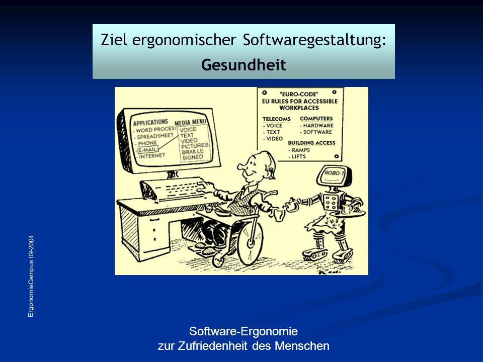 Ziel ergonomischer Softwaregestaltung: Gesundheit