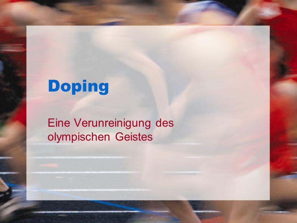 Eine Verunreinigung des olympischen Geistes