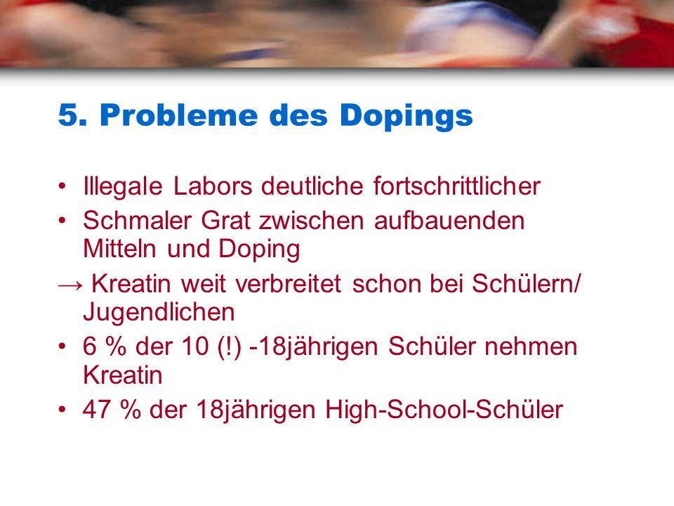 5. Probleme des Dopings Illegale Labors deutliche fortschrittlicher