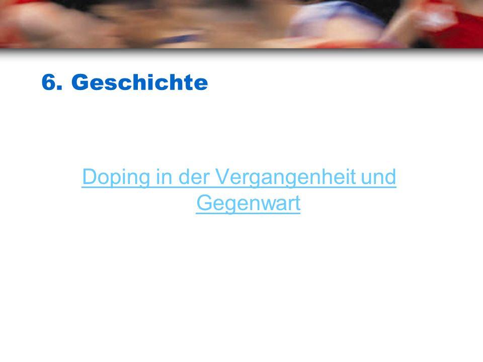 Doping in der Vergangenheit und Gegenwart