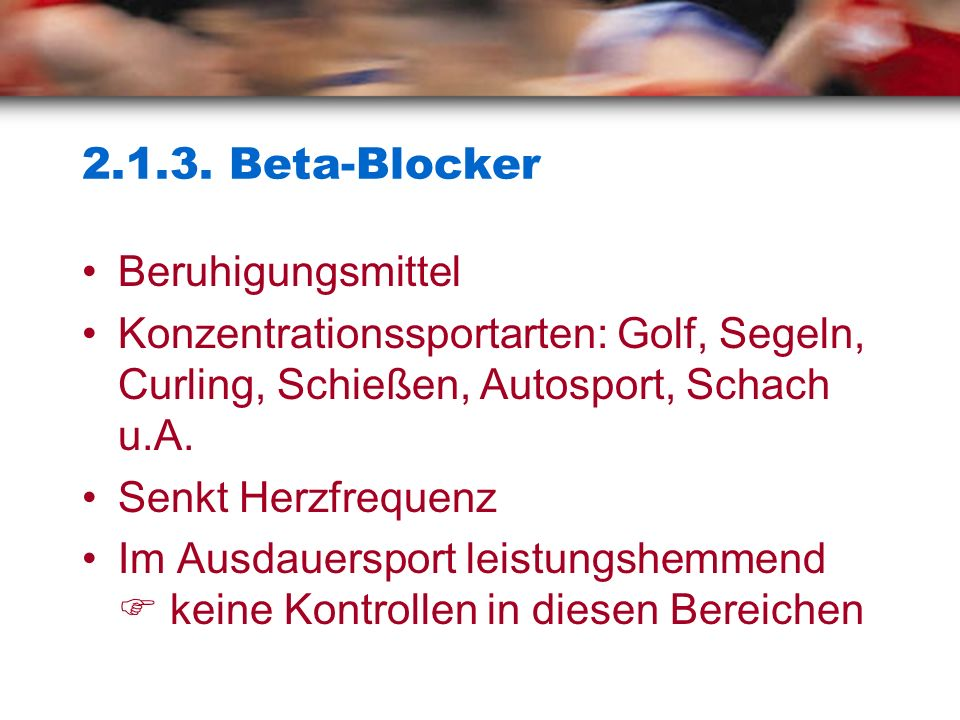 2.1.3. Beta-Blocker Beruhigungsmittel