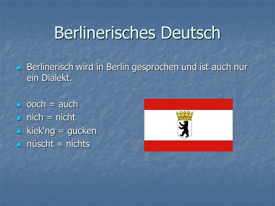 Berlinerisches Deutsch