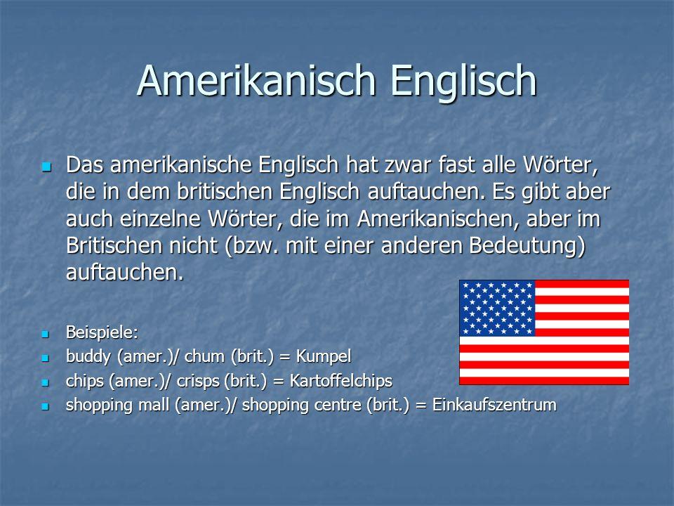 Amerikanisch Englisch