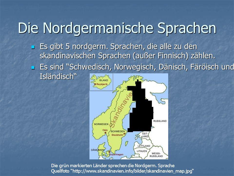 Die Nordgermanische Sprachen