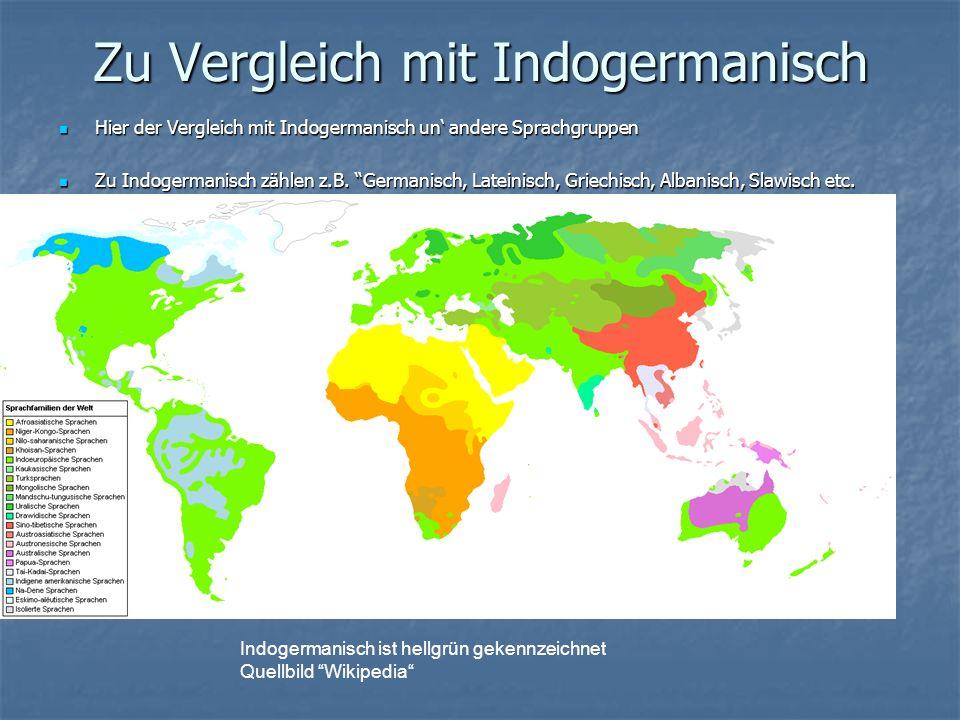 Zu Vergleich mit Indogermanisch